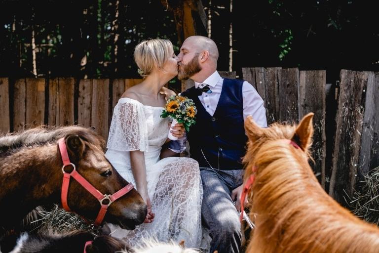 Einzigartige Hochzeitsfotos mit unseren Tieren