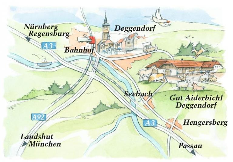 Anfahrt Gut Aiderbichl Deggendorf