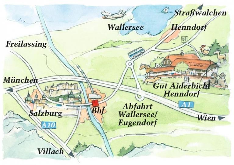 Anfahrt Gut Aiderbichl Henndorf