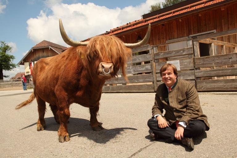 Michael Aufhauser mit Garfield: Ein tolles Team