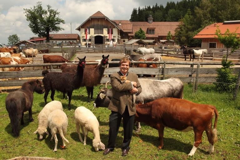 Michael Aufhauser auf Gut Aiderbichl Henndorf