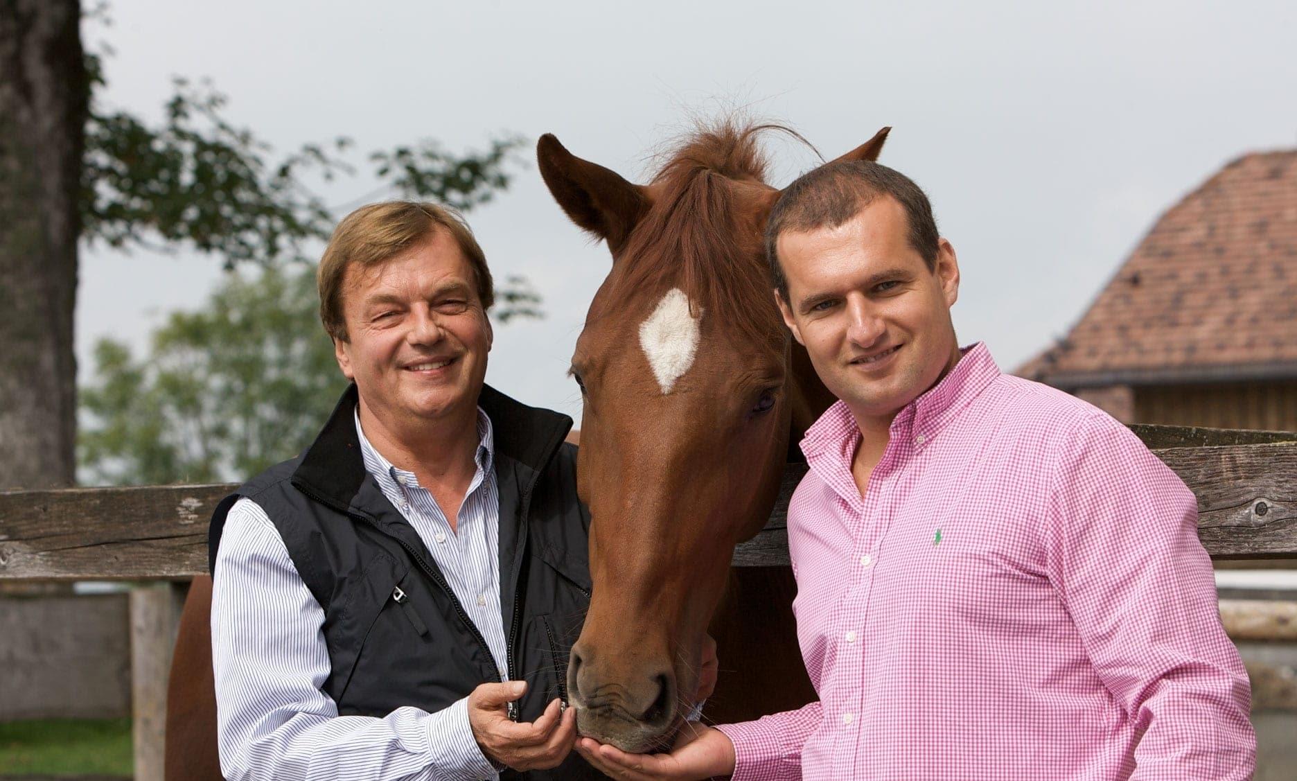 Michael Aufhauser mit Dieter Ehrengruber