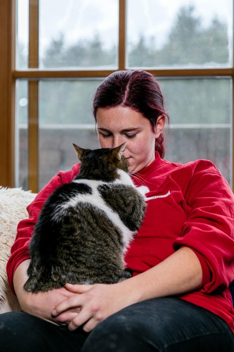 Steffi im Katzenwohnzimmer