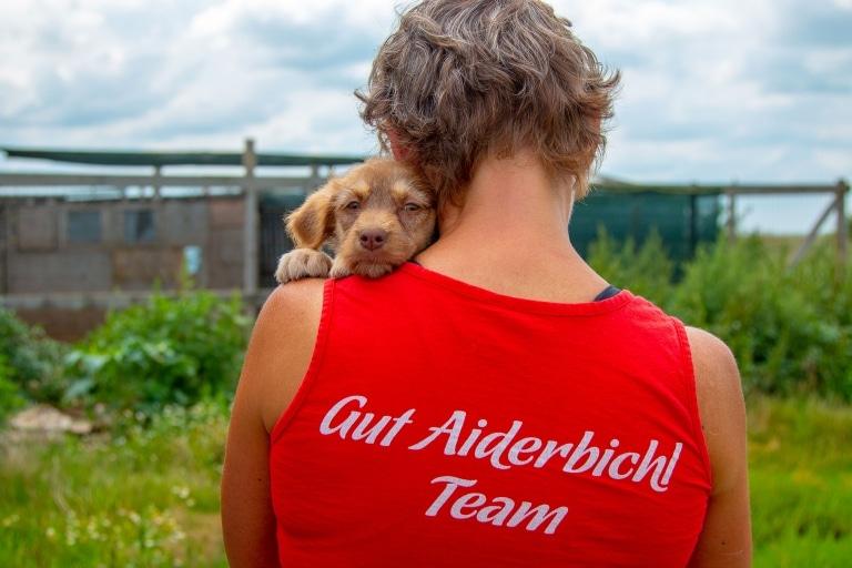 Anita mit Hund Kaya