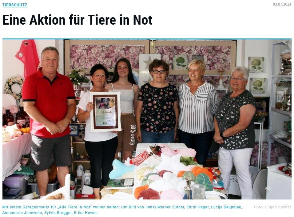 Pressespiegel Gut Aiderbichl Augsburger Allgemeine