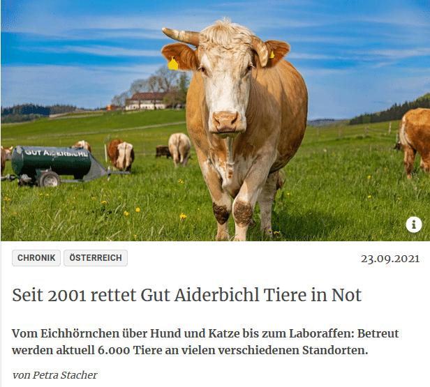 eit 2001 rettet Gut Aiderbichl Tiere in Not