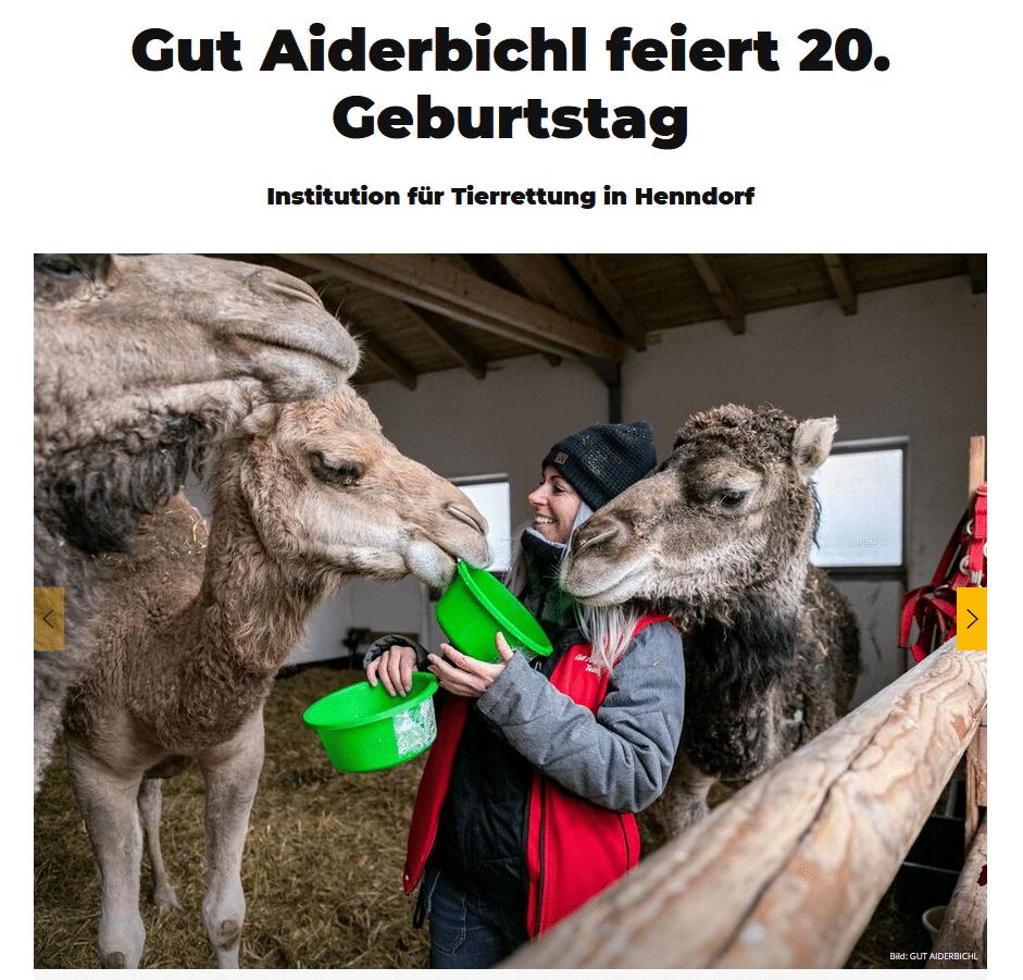 Gut Aiderbichl feiert 20. Geburtstag