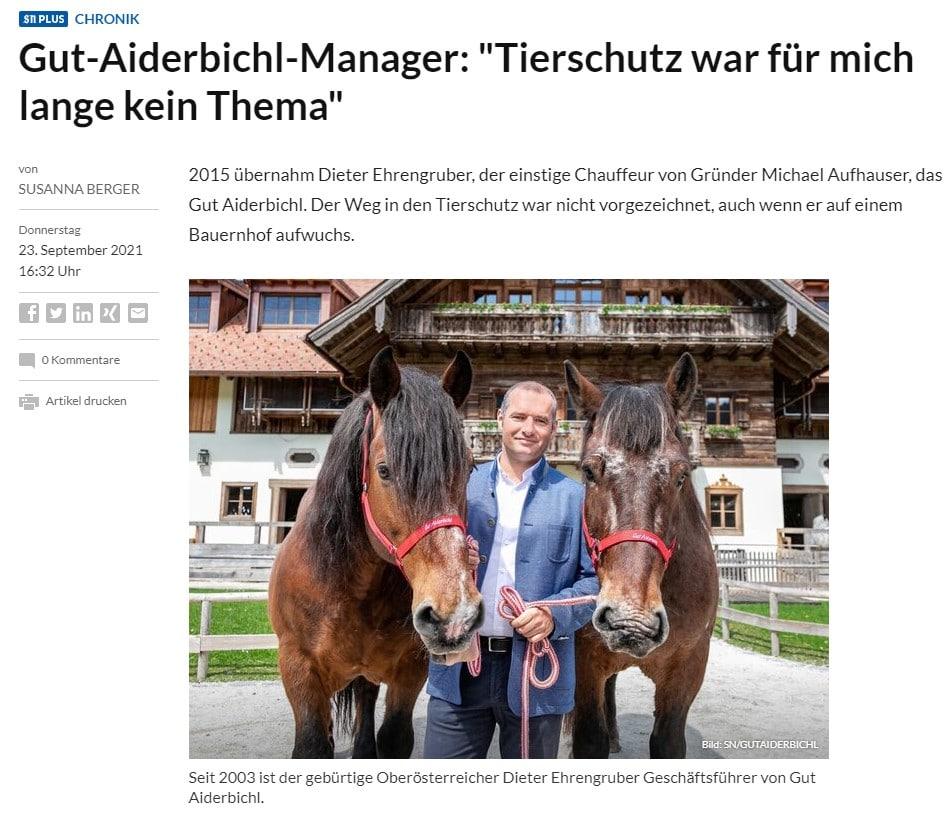 Pressespiegel Gut Aiderbichl Salzburger Nachrichten